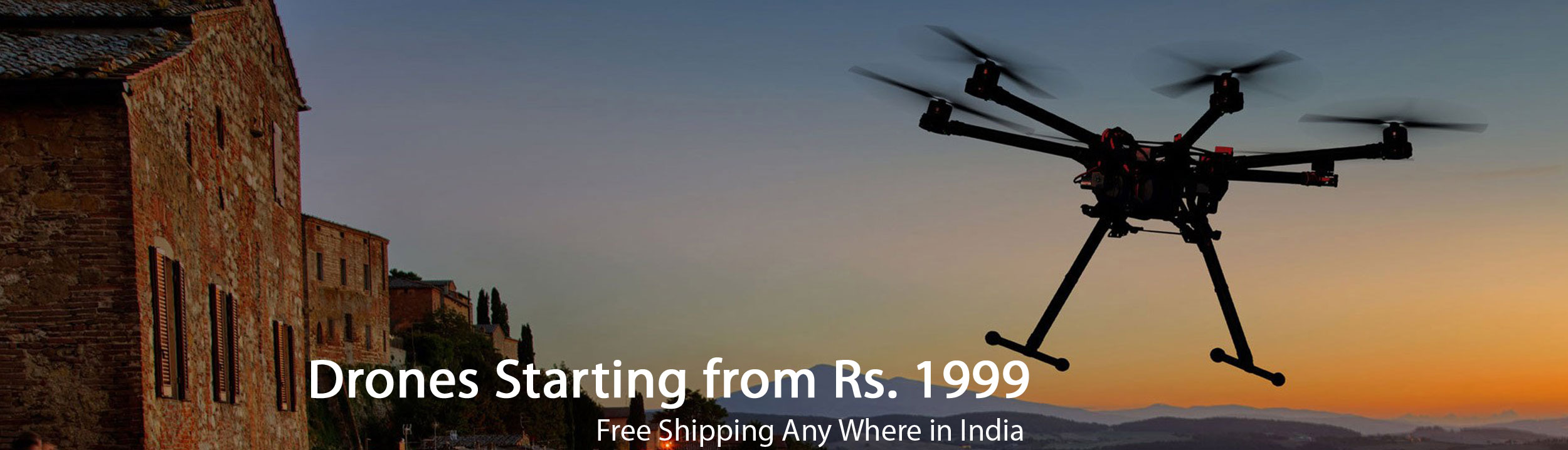 Drones Starting from Rs. 1999, Free Shipping Any Where in India