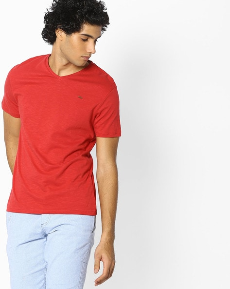 DNMX - V-neck Slub T-shirt