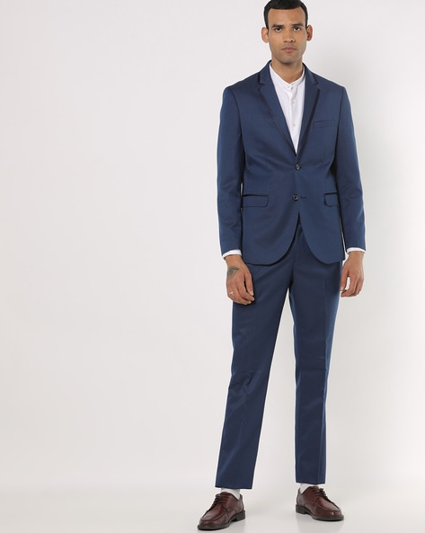 NETWORK - Textured Slim Fit 2-Piece Suit Set