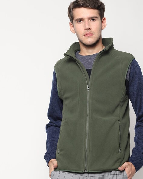 TEAMSPIRIT - Sleeveless Zip-Front Jacket