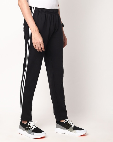 TEAMSPIRIT - Heathered Track Pants with Contrast Taping