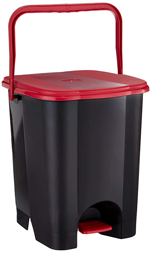Princeware Plastic Garbage Bucket, 8 Liters, Small, Multicolour