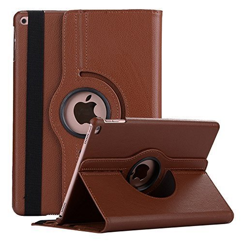 Mcart's 360 Degree Rotating Stand Magnetic Auto Sleep/Wake Case Cover Apple Ipad 9.7 Inch 2017/2018 (5Th and 6Th Generation)- Brown