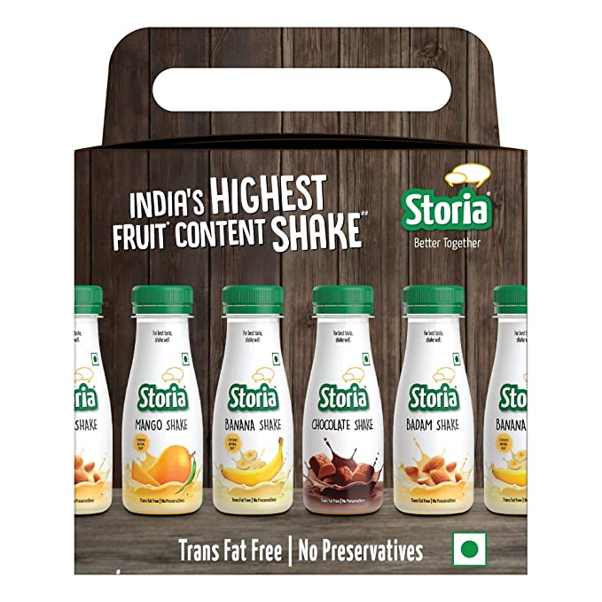 STORIA Assorted Pack of Shakes (Pack of 6)