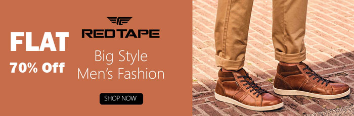 Min 50% off on RedTape Footwear