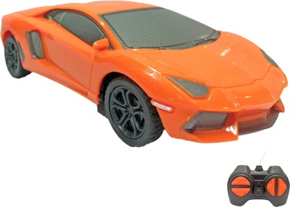 Miss & Chief 1:28 Mini Lamborghini Racing Car with 4 Channel Remote Toy for Kids  (Orange)