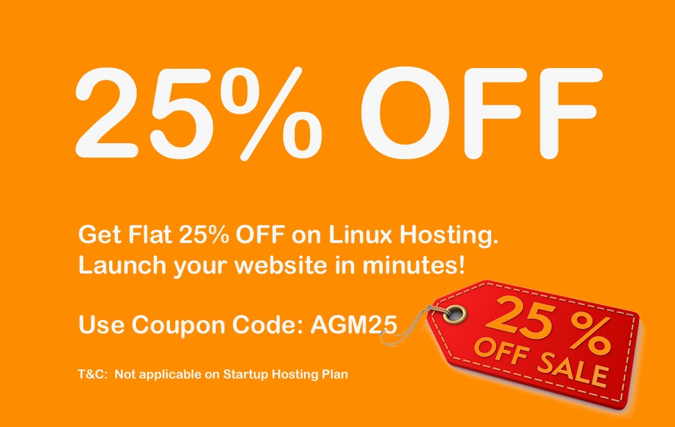 Get Flat 25%  discount on Linux Hosting