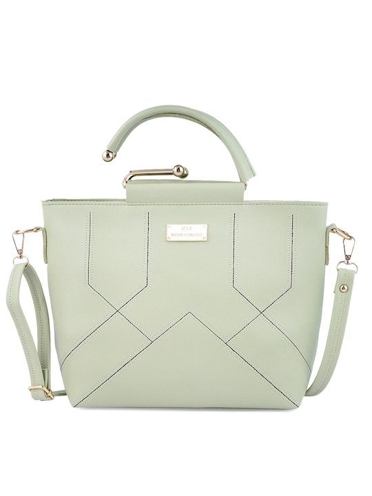 WOMEN MARKS - Sea Green Solid Handheld Bag