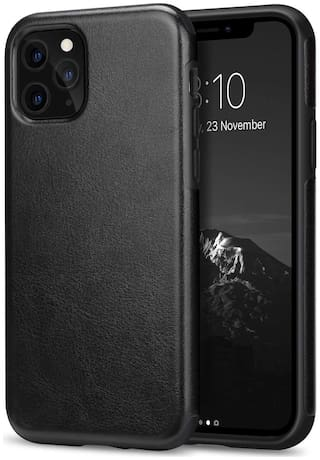 Accessories Kart Leather Back Cover For Apple iPhone 11 ( Black )