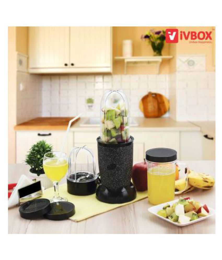 IVBOX Wonder-Pro Nutri BLK 450 Watt 3 Jar Mixer Grinder