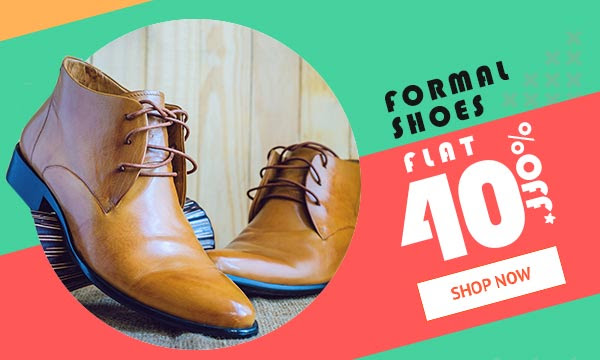 Formal Shoes for Men Flat 40% off